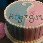 Boy girl gender reveal custom cake in Maryland