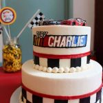 Custom boys birthday cake racing by rita in berlin MD
