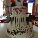 Custom music theme cakes desserts by Rita