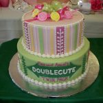 Custom birthday cake for twins by Rita