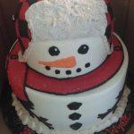 Custom Snowman special order cake by Rita