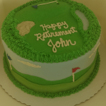 Golf Custom retirement Cake desserts by rita berlin md