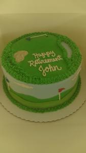 round golf theme cake