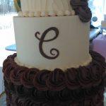 custom cakes havre de grace md two tone wedding cake