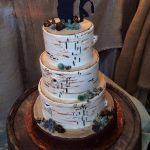 custom wedding cakes maryland shilouete Birch Tree Cake