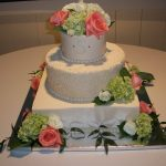 custom wedding cakes in Maryland Rose and lime cake