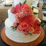 Coral wedding cake custom desserts ocean city md