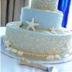 Ocean City MD beach wedding cake