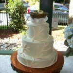 Custom Bird Nest wedding cake by Desserts by Rita