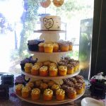 Wedding cupcake tower lovebirds Cakes by Rita