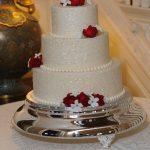 Red Roses Wedding cake by Rita